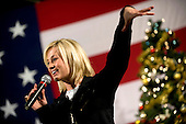 Kandahar, Afghanistan - December 17, 2008 -- American Idol contestant and country musician Kellie Pickler entertains the troops stationed at Kandahar, Afghanistan during the  2008 USO Holiday Tour on Wednesday, December 17, 2008.  Tour host United States Navy Admiral Mike Mullen, chairman of the Joint Chiefs of Staff, along with his wife Deborah, welcomed comedians John Bowman, Kathleen Madigan and Lewis Black; actress Tichina Arnold and Grammy award winning musician Kid Rock on the tour bringing music and entertainment to service members and their families stationed overseas..Credit: Chad J. McNeeley - DoD via CNP