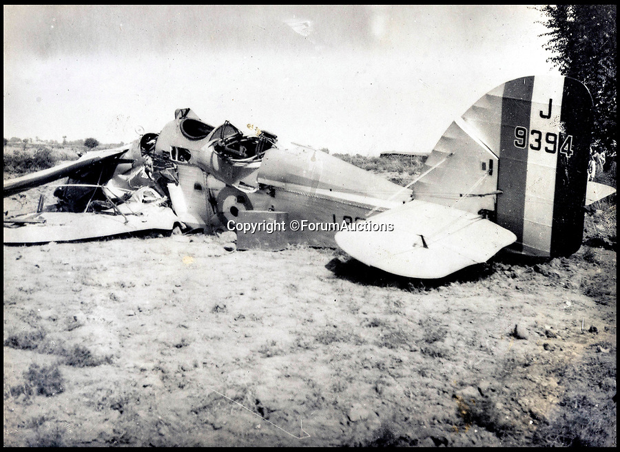 BNPS.co.uk (01202 558833)<br /> Pic: ForumAuctions/BNPS<br /> <br /> The wreckage of a plane in the region.<br /> <br /> Stunning aerial photos taken by an RAF pilot who was based in northern India in the 1930s have come to light.<br /> <br /> The album of 52 photos of the North West Frontier, which today is part of modern day Pakistan, includes breathtaking snaps of the Khyber Pass and the Himalayas at 21,000ft.<br /> <br /> The pilot, who is pictured in the album and called himself 'Nuncs', also took an interest in the native population.<br /> <br /> There are snaps of a snake charmer entertaining the masses, while a father and son can be seen paddling in a traditional round basket boat on a river.