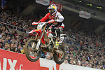 10.02.2013 Barcelona , Spain. FIM Superenduro World Championships. Picture show David Knight riding Honda during GP of Catalonia at Palau St. Jordi