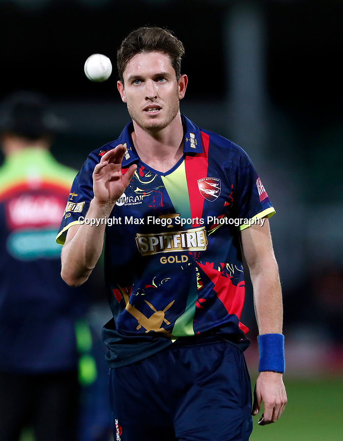 Adam Milne prepares to bowl for Kent during the Vitality Blast T20 game between Kent Spitfires and Somerset at the St Lawrence Ground, Canterbury, on Thur Aug 16, 2018
