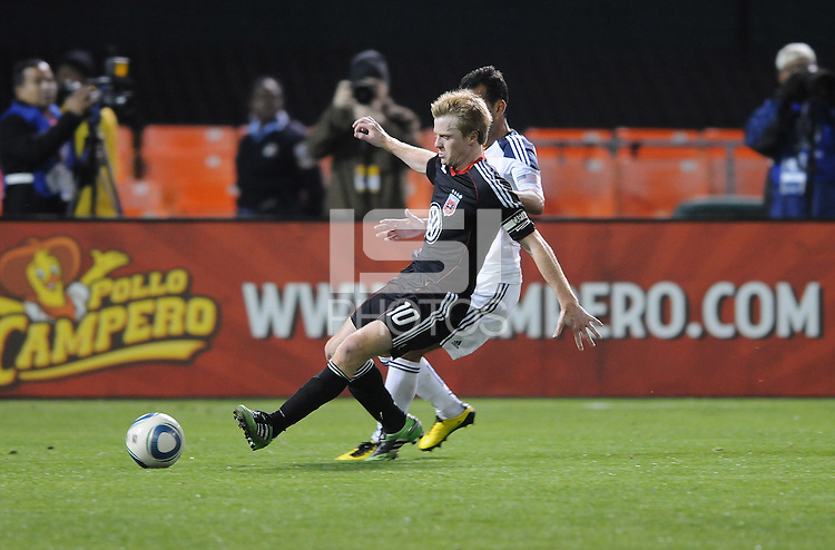 DC United midfielder Dax McCarty (10).    DC United tied  Los Angeles Galaxy 1-1, at RFK Stadium, Saturday April 9, 2011.