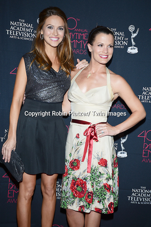 Chrishell Stause & Melissa Claire Egan attend the 40th Annual Daytime Creative Arts Emmy Awards on June 14, 2013 at the Westin Bonaventure Hotel in Los Angeles, California.