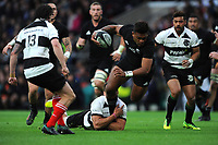 Seta Tamanivalu of New Zealand is tackled during the 125th Anniversary Match between Barbarians and New Zealand at Twickenham Stadium on Saturday 4th November 2017 (Photo by Rob Munro/Stewart Communications)