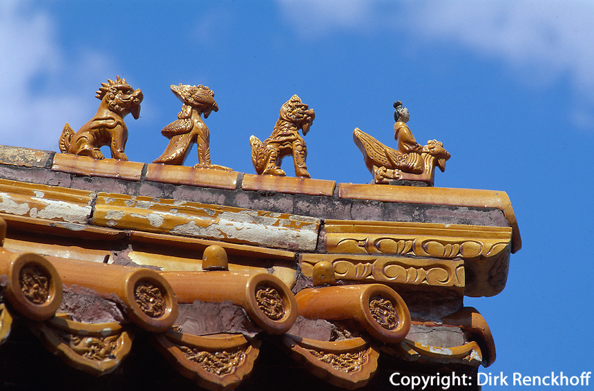 Pule Si (Tempel), Dachdetail, Chengde, China, Unesco-Weltkulturerbe