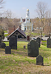 Old Hill Burying Ground and the First Parish Church Concord, MA