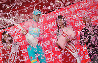 2013 Giro d'Italia.stage18..podium party for race leader Vincenzo Nibali (ITA)