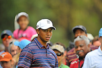 Tiger Woods eyes his next shot on the 18th hole during the second round of the AT&T National at the Congressional Country Club in Bethesda, MD on Friday, July 3, 2009.  Alan P. Santos/DC Sports Box.Tiger Woods