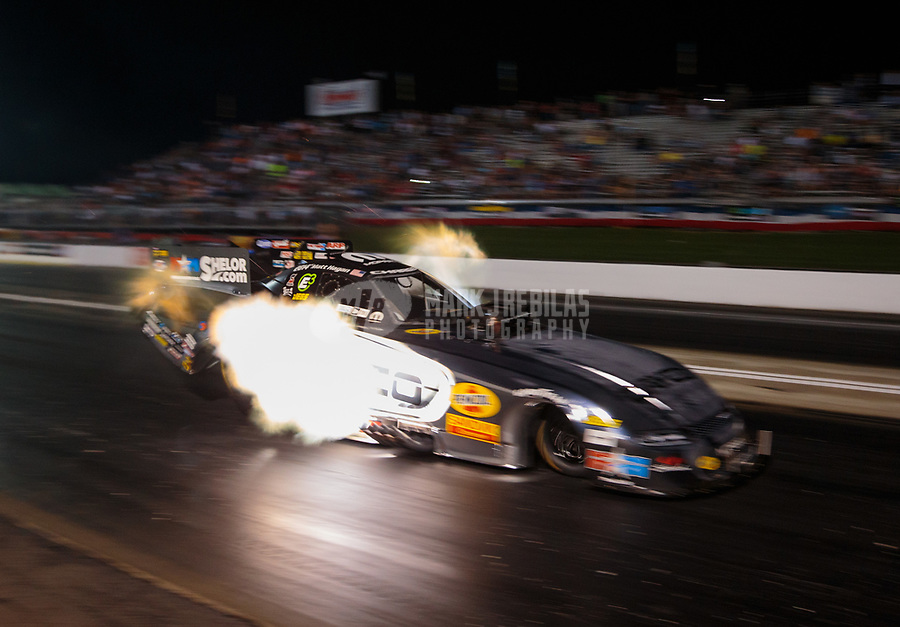 May 3, 2019; Commerce, GA, USA; NHRA funny car driver Matt Hagan during qualifying for the Southern Nationals at Atlanta Dragway. Mandatory Credit: Mark J. Rebilas-USA TODAY Sports