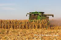 63801-08013 Corn Harvest John Deere combine Marion Co. IL