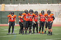 The Occidental Tigers football team came up short in its Battle for the Shoes rivalry game against the Whittier Poets, falling 28-13 at Jack Kemp Stadium on Saturday, Oct. 6, 2018.<br /> (Photo by Marc Campos, Occidental College Photographer)