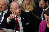 Chairman Chuck Grassley, Republican of Iowa, speaks as Democrats and Republicans debate during a hearing before the United States Senate Judiciary Committee to consider the nomination of Judge Brett Kavanaugh to be an Associate Justice of the US Supreme Court to replace the retiring Justice Anthony Kennedy on Capitol Hill in Washington, DC on Tuesday, September 4, 2018.Credit: Alex Edelman / CNP
