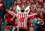 MADISON, WI - JANUARY 15: Mascot Bucky Badger of the Wisconsin Badgers cheers during the game against the Minnesota Golden Gophers at the Kohl Center on January 15, 2009 in Madison, Wisconsin. Minnesota defeated Wisconsin 78-74 in overtime. (Photo by David Stluka)