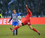 10.03.2018, OLympiastadion, Berlin, GER, 1.FBL, Hertha BSC VS. FC Freiburg, im Bild <br /> Niklas Stark (Hertha BSC Berlin #5), Tim Kleindienst (SC Freiburg #34)<br /> <br /> <br />       <br /> Foto &copy; nordphoto / Engler
