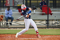 Juhlien Gonzalez (8) of Southwest Ranches, Florida during the Baseball Factory All-America Pre-Season Rookie Tournament, powered by Under Armour, on January 13, 2018 at Lake Myrtle Sports Complex in Auburndale, Florida.  (Michael Johnson/Four Seam Images)