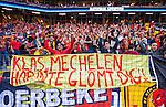Solna 2014-06-01 Fotboll Landskamp , Sverige - Belgien :  <br /> Belgiens supportrar med en banderoll och hyllning till Klas Ingesson<br /> (Photo: Kenta J&ouml;nsson) Keywords:  Sweden Sverige Friends Arena Belgium Belgien  supporter fans publik supporters
