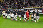 i09.10.2019, Signal Iduna Park, Dortmund, GER, FSP, LS, Deutschland (GER) vs Argentinien (ARG)<br /> <br /> DFB REGULATIONS PROHIBIT ANY USE OF PHOTOGRAPHS AS IMAGE SEQUENCES AND/OR QUASI-VIDEO.<br /> <br /> im Bild / picture shows<br /> Die deutsche Mannschaft kommt mit den Einlaufskids<br /> <br /> <br /> während Freundschaftsspiel  Deutschland gegen Argentinien   in Dortmund  am 09.10..2019,<br /> <br /> Foto © nordphoto / Kokenge