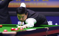 31st October 2019, Yushan, Jiangxi Province, China;  Ding Junhui of China competes during the round of 16 match against Michael Holt of England at 2019 Snooker World Open in Yushan