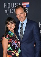 "LOS ANGELES, CA. October 22, 2018: Constance Zimmer & Russ Lamoureux at the season 6 premiere for ""House of Cards"" at the Directors Guild Theatre.<br /> Picture: Paul Smith/Featureflash"