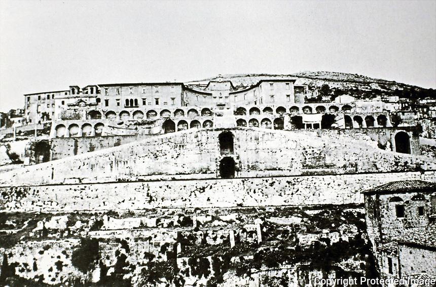 Sanctuary of Fortuna Primigenia, Palestrina Italy, 80 BCE