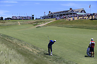 Zach Johnson (USA) plays his 2nd shot on the 9th hole during Saturday's Round 3 of the 118th U.S. Open Championship 2018, held at Shinnecock Hills Club, Southampton, New Jersey, USA. 16th June 2018.<br /> Picture: Eoin Clarke | Golffile<br /> <br /> <br /> All photos usage must carry mandatory copyright credit (&copy; Golffile | Eoin Clarke)