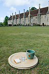 Hospital of St Cross & Almshouse of Noble Poverty Winchester Hampshire England 2009. Since medieval times and today visitors can still receive the Wayfarer's Dole (a small beaker of beer and a morsel of bread).