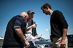 Behind the scenes during the filming of the 2nd Infiniti's Inspired Performers' series with Red Bull Racing driver Mark Webber and top skydiver Jon DeVore at the Icar circuit on June 05, 2012 in Montreal. Photo by Victor Fraile / The Power of Sport Images for Prism/Infiniti