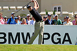 Danny Willett tees off from the 1st tee to start  Round 3 of the BMW PGA Championship at  Wentworth, Surrey, England, 22nd May 2010...Photo Golffile/Eoin Clarke.(Photo credit should read Eoin Clarke www.golffile.ie)....This Picture has been sent you under the condtions enclosed by:.Newsfile Ltd..The Studio,.Millmount Abbey,.Drogheda,.Co Meath..Ireland..Tel: +353(0)41-9871240.Fax: +353(0)41-9871260.GSM: +353(0)86-2500958.email: pictures@newsfile.ie.www.newsfile.ie.