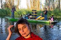 Xochimilco with Vanessa, Jeremy, Malcolm, Girasol, Annuska, Karin, Pigui, Enrique Cervera,  Valentina, Myriam, Griffin, Felix and Alan