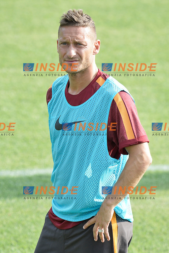 Francesco Totti AS Roma.<br /> Allenamento AS Roma. AS Roma Football training.<br /> Roma 16-07-2014 Trigoria. Football Calcio 2014/2015 Serie A. AS Roma. Foto Antonietta Baldassarre / Insidefoto