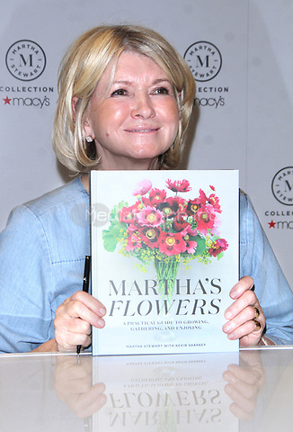 NEW YORK, NY - APRIL 5: Martha Stewart pictured at a demonstration and book signing to promote her new book 'Martha's Flowers' at Macy's Herald Square Home Department in New York City on April 05, 2018. Credit: RW/MediaPunch