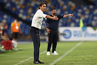 Simone Inzaghi coach of SS Lazio and Gennaro Gattuso coach of SSC Napoli<br /> during the Serie A football match between SSC  Napoli and SS Lazio at stadio San Paolo in Naples ( Italy ), August 01st, 2020. Play resumes behind closed doors following the outbreak of the coronavirus disease. <br /> Photo Cesare Purini / Insidefoto