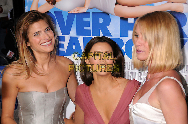 "LAKE BELL, EVA LONGORIA & NICOLLETTE SHERIDAN.""Over Her Dead Body"" Los Angeles Premiere held at the ArcLight Cinemas Cinerama Dome Theater, Santa Monica, California, USA. .January 29th 2008.half length silver strapless pink white nicolette .CAP/ADM/BP.©Byron Purvis/AdMedia/Capital Pictures."