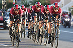 Team Ineos in action during Stage 1 of La Vuelta 2019, a team time trial running 13.4km from Salinas de Torrevieja to Torrevieja, Spain. 24th August 2019.<br /> Picture: Luis Angel Gomez/Photogomezsport | Cyclefile<br /> <br /> All photos usage must carry mandatory copyright credit (© Cyclefile | Luis Angel Gomez/Photogomezsport)