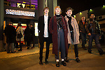 © Joel Goodman - 07973 332324 . 04/04/2015 . Manchester , UK . Corner House fans , Joe Creely (17) , Sian Creely (20) (from Salford) and Sam Fairbrother (21) (from Altrincham) .  Final party at the Corner House 's historical location on Oxford Road , before moving to First Street under a new name . Featuring several dance floors , drag queens , dance and performance art displays . Photo credit : Joel Goodman