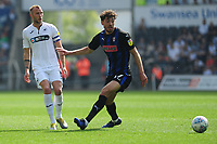 Mike van der Hoorn of Swansea City in action during the Sky Bet Championship match between Swansea City and Rotherham United at the Liberty Stadium in Swansea, Wales, UK.  Friday 19 April 2019
