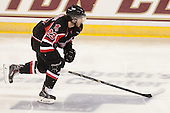 Cam Critchlow (UNB - 23) - The Boston College Eagles defeated the visiting University of New Brunswick Varsity Reds 6-4 in an exhibition game on Saturday, October 4, 2014, at Kelley Rink in Conte Forum in Chestnut Hill, Massachusetts.