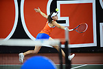 ATHENS, GA - MAY 23: Ingrid Neel of the University of Florida returns a serve against Stanford University during the Division I Women's Tennis Championship held at the Dan Magill Tennis Complex on the University of Georgia campus on May 23, 2017 in Athens, Georgia. (Photo by Steve Nowland/NCAA Photos via Getty Images)