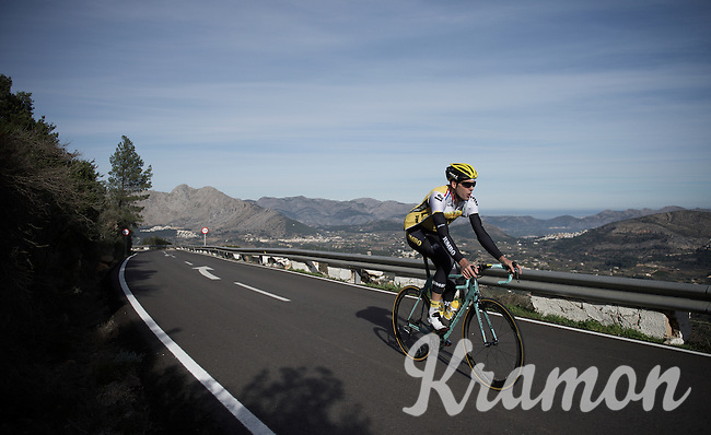 Maarten Wynants (BEL/LottoNL-Jumbo) training up Coll de Rates (Alicante, Spain)<br /> <br /> January 2016 Training Camps
