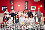 80th Birthday : John Horgan, Ennismore, Listowel, centre front,  celebrating his 80th birthday with family & friends at Eabha Joan's Restaurant, Listowel on Saturday night last.