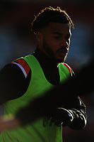 Blackpool's Joe Nuttall during the pre-match warm-up <br /> <br /> Photographer Kevin Barnes/CameraSport<br /> <br /> Emirates FA Cup Second Round - Blackpool v Maidstone United - Sunday 1st December 2019 - Bloomfield Road - Blackpool<br />  <br /> World Copyright © 2019 CameraSport. All rights reserved. 43 Linden Ave. Countesthorpe. Leicester. England. LE8 5PG - Tel: +44 (0) 116 277 4147 - admin@camerasport.com - www.camerasport.com