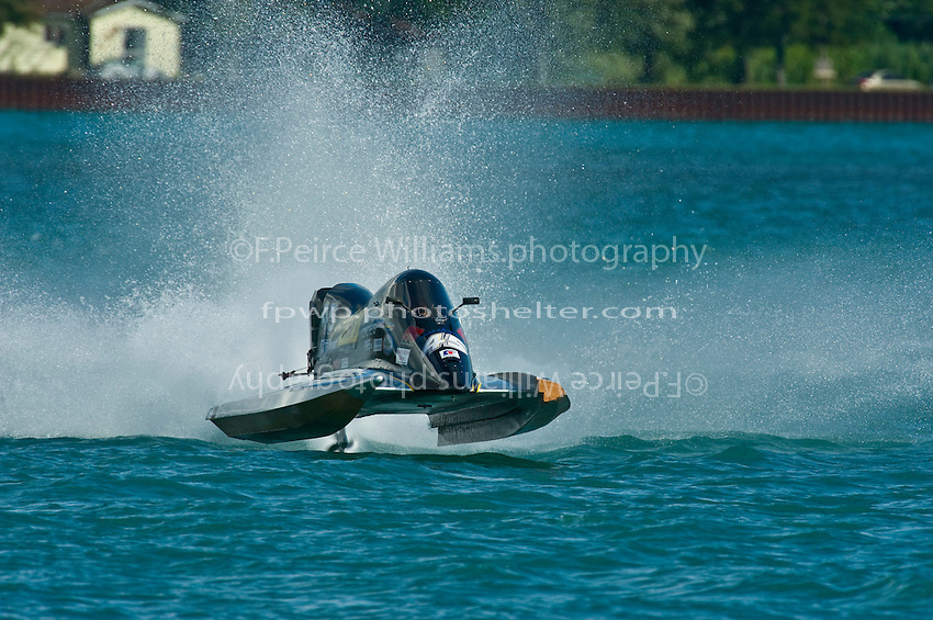 8-10 August 2008  Algonac, MI USA.APBA President, former Unlimited driver and Inboard racer Mark Weber in his first ever tunnel boat race..©F.Peirce Williams 2008