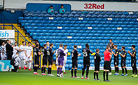Charlton Athletic players give the Leeds United side a guard of honour<br /> <br /> Photographer Alex Dodd/CameraSport<br /> <br /> The EFL Sky Bet Championship - Leeds United v Charlton Athletic - Wednesday July 22nd 2020 - Elland Road - Leeds <br /> <br /> World Copyright © 2020 CameraSport. All rights reserved. 43 Linden Ave. Countesthorpe. Leicester. England. LE8 5PG - Tel: +44 (0) 116 277 4147 - admin@camerasport.com - www.camerasport.com