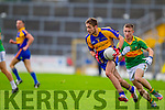 Aidan Walsh South Kerry in Action against Adrian Spillane Kenmare in the County Senior Football Semi Final at Fitzgerald Stadium Killarney on Sunday.