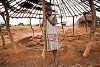 A young girl in  Madi Opei, Uganda.
