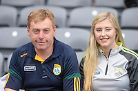 Vincent and Tara Casey from Killarney.<br /> <br /> Kerry win the 2016 All-Ireland Minor Football Championship.<br /> Photo Don MacMonagle