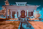 """Historic Home, Prescott, Arizona (Infrared) ©2017 James D Peterson.  Prescott was once the capital of Arizona, and it was also a territorial center full of rough and tumble miners and cowhands.  But it had its elegant side as well.  Mt. Vernon Ave. is lined with classic and victorian homes, many of which are listed on the National Register of Historic Places.  I'll be adding images of many of them to my """"Domicile"""" series."""