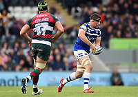 Charlie Ewels of Bath Rugby in possession. Gallagher Premiership match, between Leicester Tigers and Bath Rugby on May 18, 2019 at Welford Road in Leicester, England. Photo by: Patrick Khachfe / Onside Images