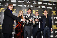 (L-R) Producer/musician T-Bone Burnett, producer Judy Cairo, director Scott Cooper, producer Rob Carliner and actor/producer Robert Duvall, winners Best First Feature for 'Crazy Heart, pose in the press room at the 25th Independent Spirit Awards held at the Nokia Theater in Los Angeles on March 5, 2010. The Independent Spirit Awards is a celebration honoring films made by filmmakers who embody independence and originality..Photo by Nina Prommer/Milestone Photo