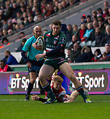 4th November 2017, Welford Road, Leicester, England; Anglo-Welsh Cup, Leicester Tigers versus Gloucester;  Jonah Holmes makes a break for Leicester Tigers