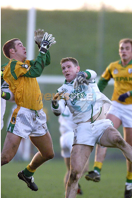 Action between Meath and Fermanagh in Pairc Tailteann in Navan on Sunday..Picture: Paul Mohan/Newsfile